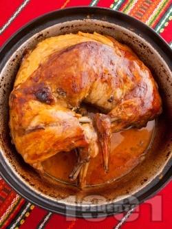 Пълнен печен заек с ориз на фурна - снимка на рецептата